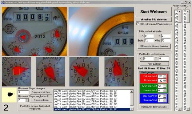 Software Screenshot für das Auslesen des Wasserzählers