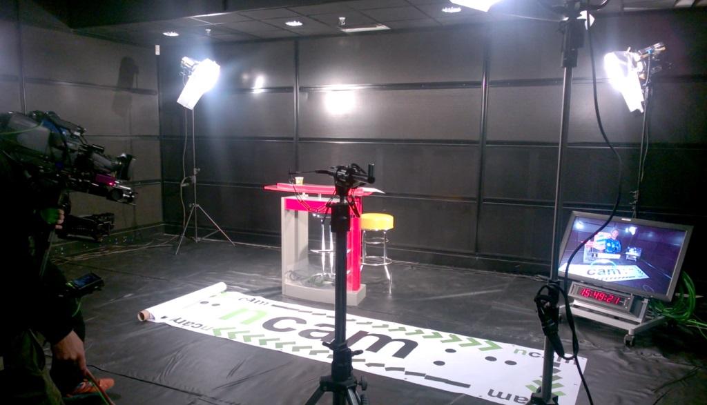 Fernsehstudio 3D Objekt Einblendung Test