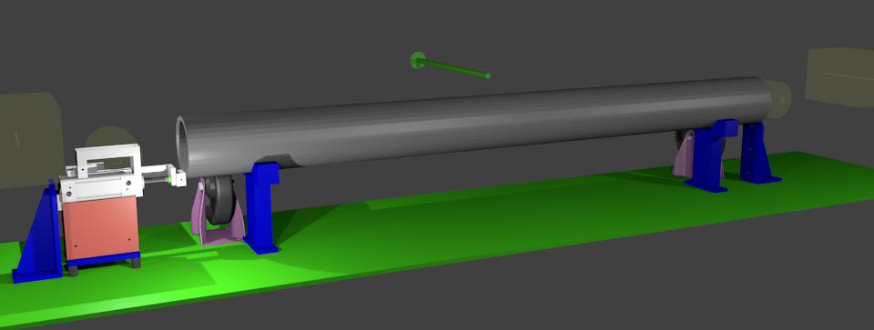 Schematischer Aufbau Rohre messen