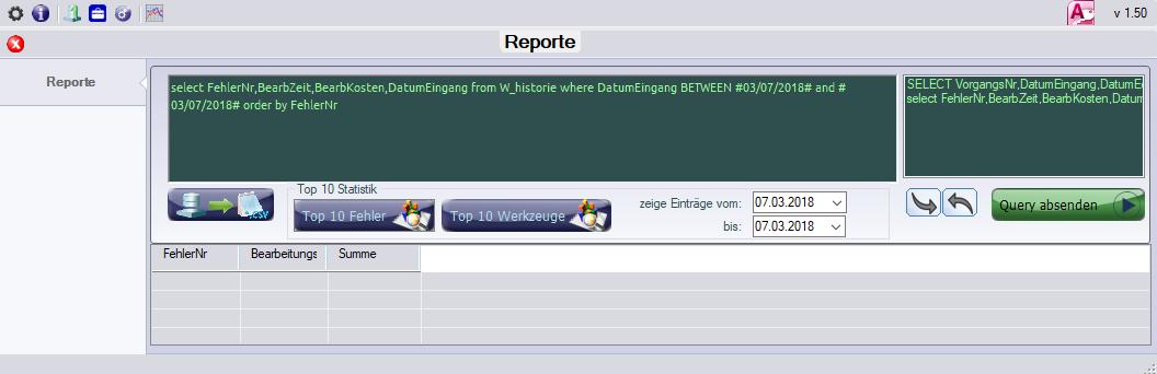 Werkzeugverwaltung individuelle Reporte erstellen
